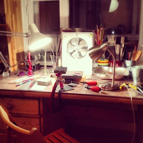 home lampwork studio