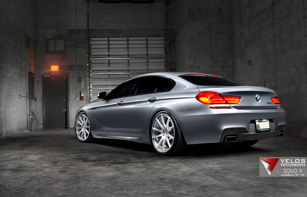 BMW M6 Gran Coupe >> BMW 650 Gran Coupe on Velos Designwerks Solo X Wheels in ...