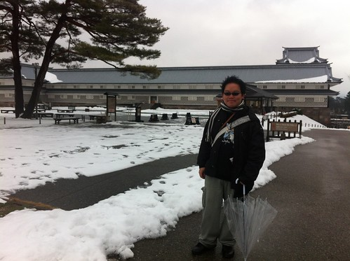 Standing in front of Kanazawa Castle