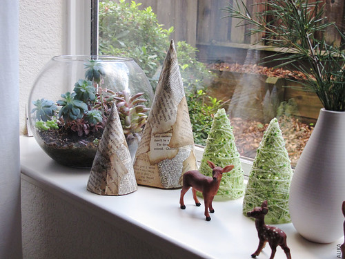Handmade Decorative Christmas Trees by Alika-Rikki