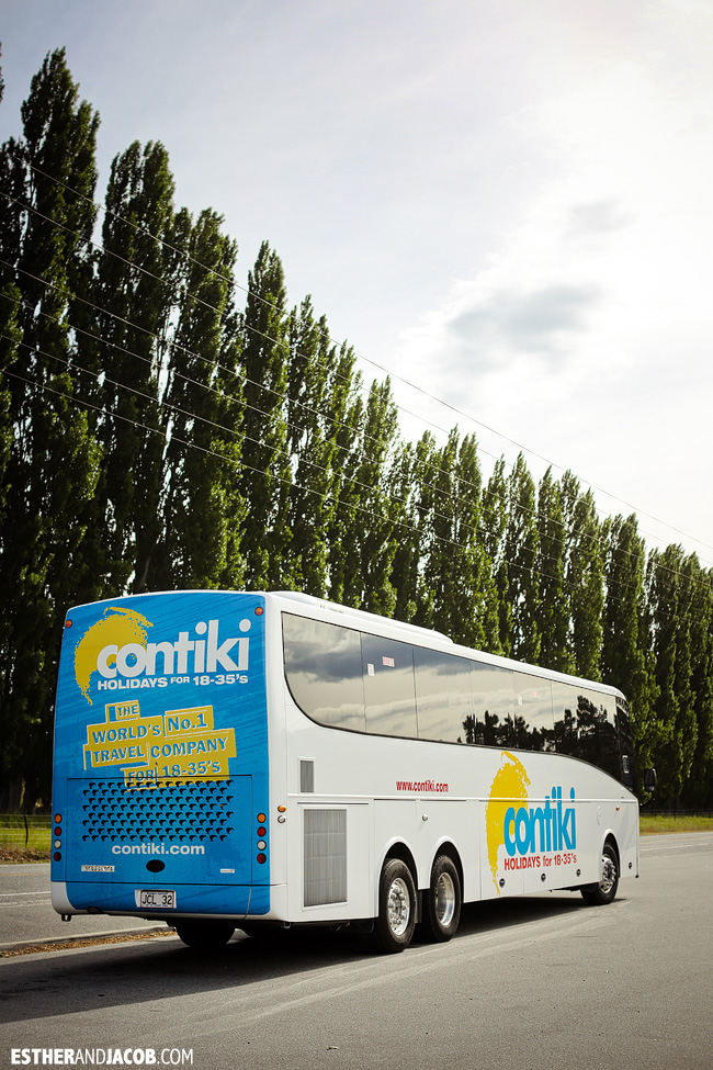 Contiki Tour bus New Zealand Sweet as South Tour | A Guide to South Island | Travel Photography