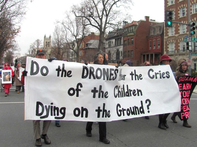 Protesting Drones at Obama's Inauguration from Flickr via Wylio