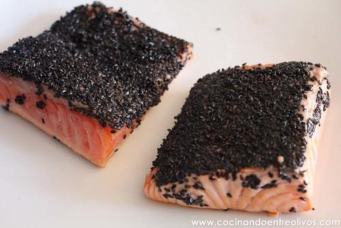 Tataki de salmon en nido de nabo daikon (13)