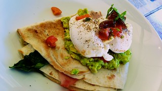 Breakfast quesadilla at Found Off Chapel in South Yarra