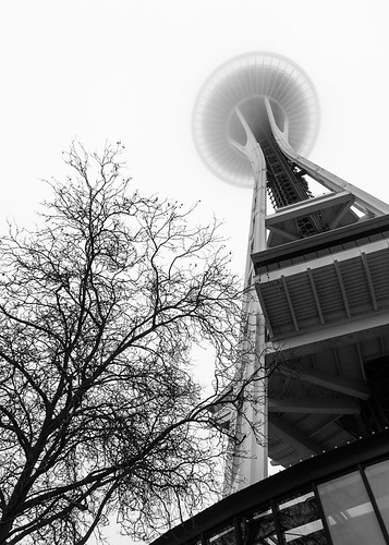 Space Needle in the fog