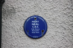 Photo of Mary Neal blue plaque