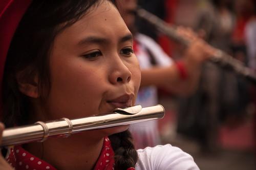 Flute Player, Chiang Mai Flower Festival Parade 2013