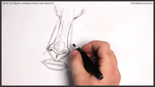 learn how to draw a human nose and mouth 007