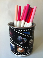 Valentine pencil cup for the dorms (Photo by J Burrell)