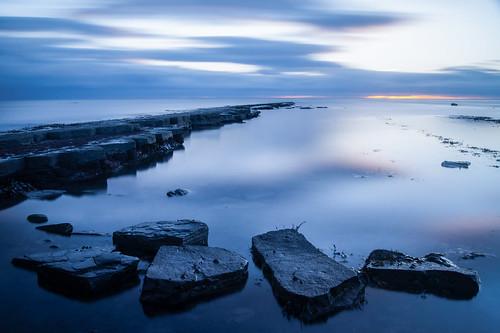 sunset seascape dark landscape coast rocks moody sony blues a33 dorset slt kimmeridge jurassiccoast