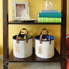 Fabric & Leather Project Storage Baskets