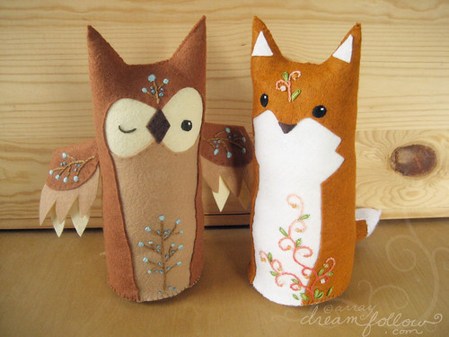 fox and owl are friends