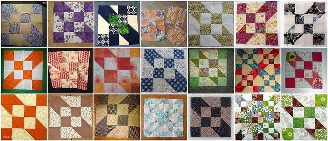 21 'Road to Oklahoma' blocks made for the My Favorite Block Quilt Along