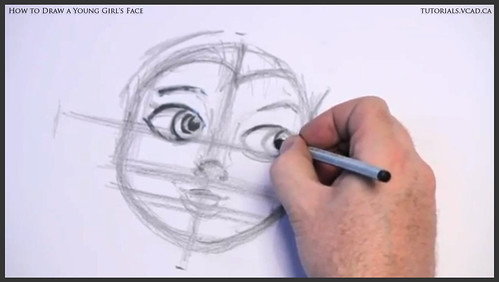 learn how to draw a young girls face 009