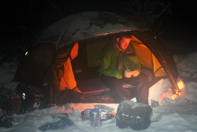 Hilleberg allak in winter