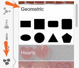 clicca iconcina e scegli geometric