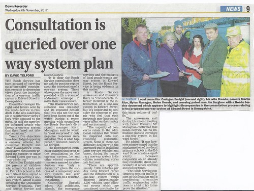 Road Service Consultation on one way system deeply flawed 7th Nov 2012 by CadoganEnright