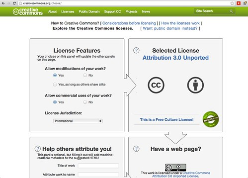 Creative Commons: New License Chooser