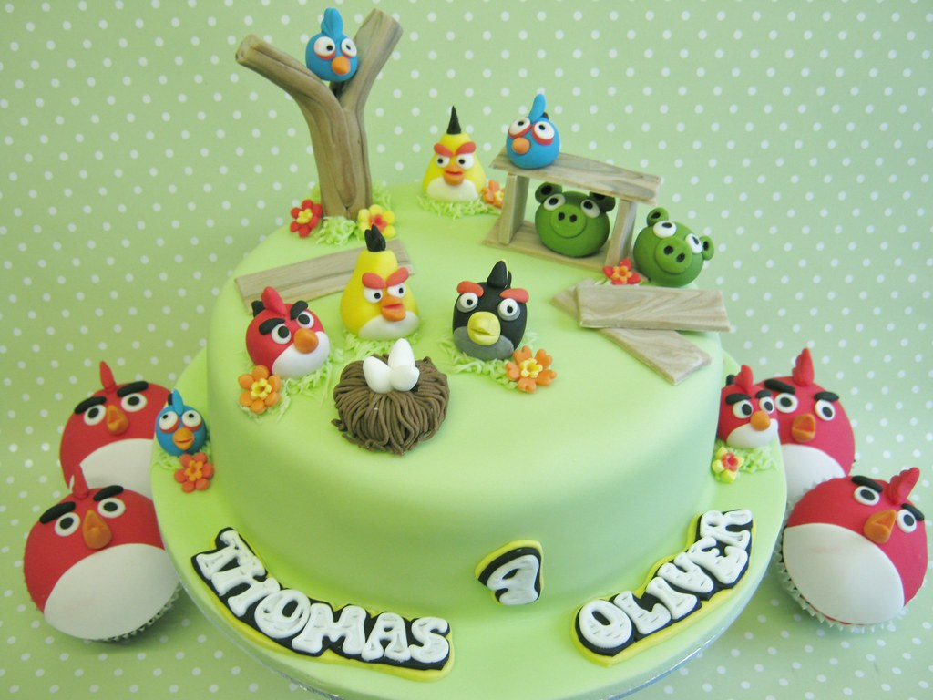 Coolest Train Cake For A 2 Year Old Boy Angry Birds Birthday Cakes