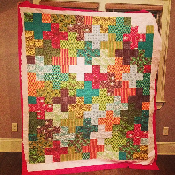 Finally finished quilting this for my mom! @ridleysmom1