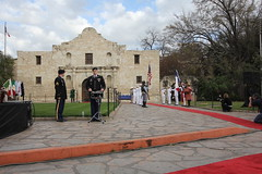 Travis Letter Arrival Ceremony at the Alamo 2.22.13