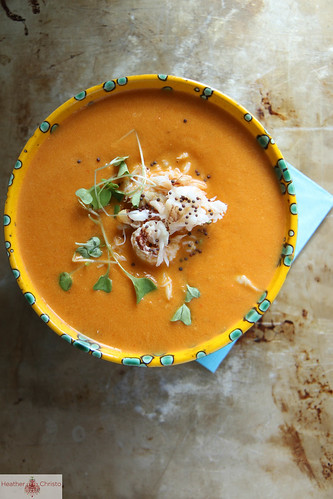 Spicy Tomato and Crab Soup