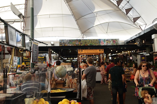 The Yards area of Fremantle Markets