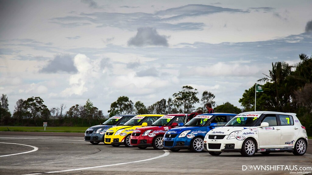 The Challenge Cars lined up for battle.
