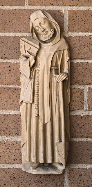 Most Sacred Heart Roman Catholic Church, in Eureka, Missouri, USA - sculpture of perhaps Saint Fiacre