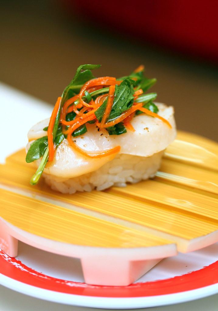 Genki Sushi's Scallop Carpaccio with Rocket Salad