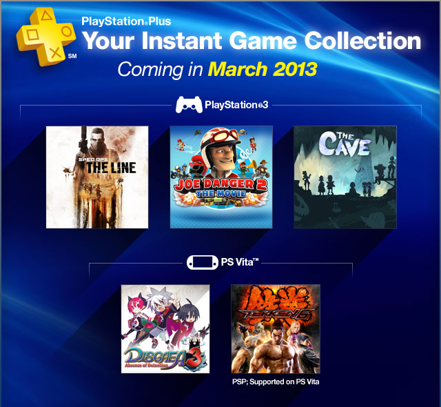 PlayStation Plus - March 2013