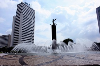 Obraz Welcome Monument. monument water fountain statue indonesia hotel jakarta hi welcome tugu jkt selamat datang kempinski dki bundaran konomark