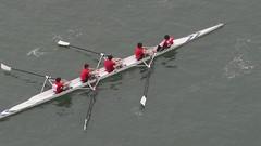 """四人單槳連舵手艇 Coxed Four 4+ Rowing"" / 香港水上體育運動之形 Hong Kong Water Sports Forms / SML.20130303.EOSM.03018-03019-03020.Sports.Rowing"