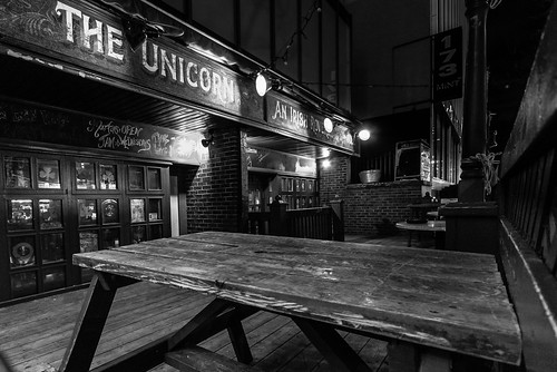 The bench at The Unicorn wonders how many more weeks until patio season - #64/365 by PJMixer
