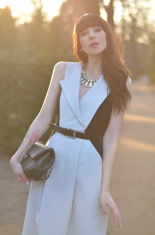 sportmax dress chanel bag outfit1
