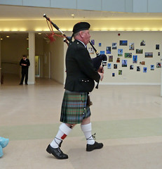 Piper in the Atrium, Bradford University