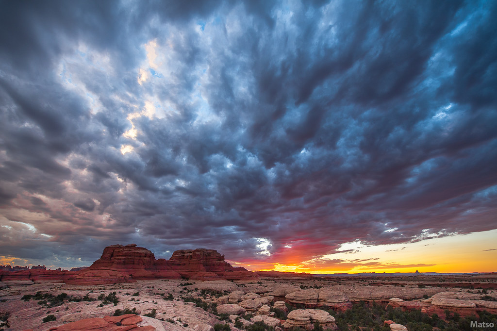 Stormy sunset in Canyonlands