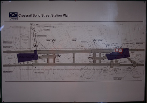Crossrail Bond Street Map