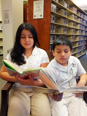 Jennifer and Christian Hernandez at Southeast Anchor Library