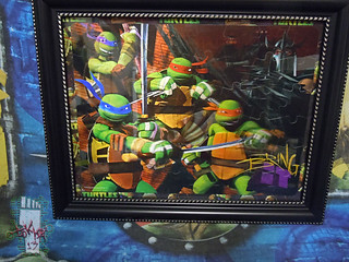 CARDINAL :: Nickelodeon TEENAGE MUTANT NINJA TURTLES - 48 Piece Lenticular Puzzle // tOkKustom matte & framed ii  (( 2012 ))