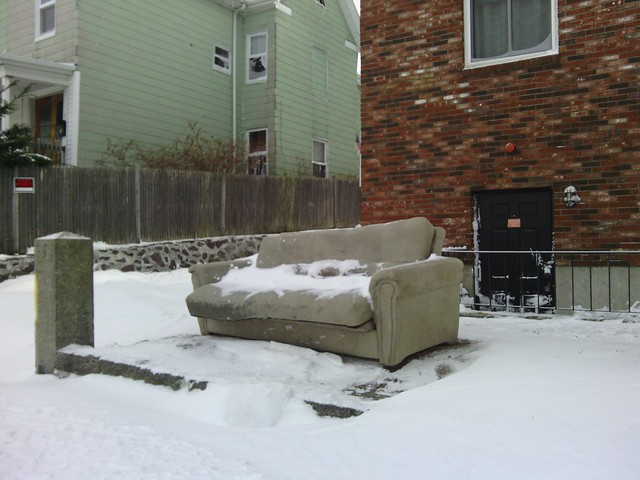 Save my Parking Spot after a Blizzard Couch
