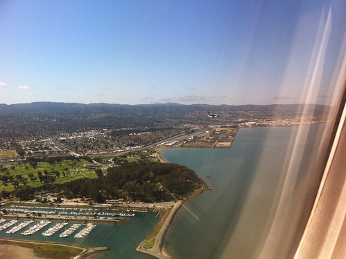 Another plane was landing next to us at San Francisco airport