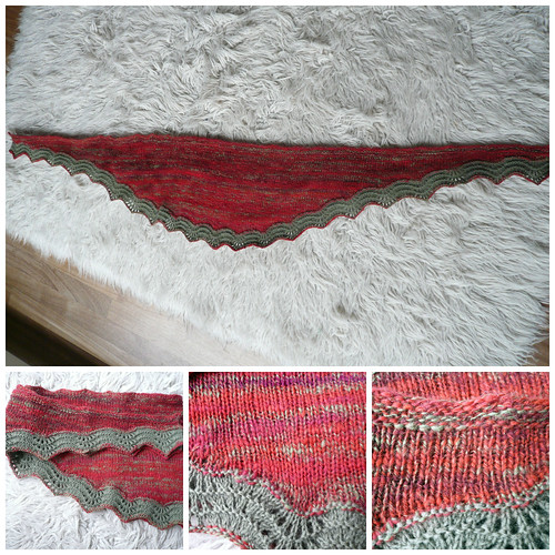 Red_green shawlette Collage