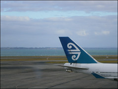 Air New Zealand on the tarmac