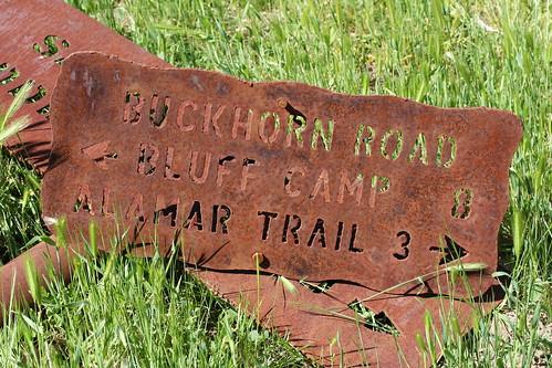 Buckhorn Road Sign No. 1