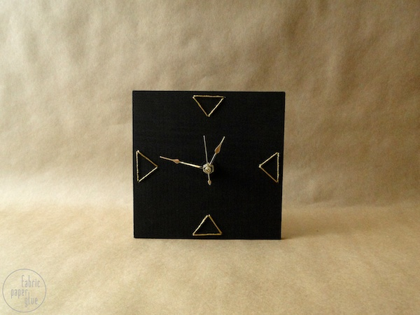 DIY Embroidered Clock