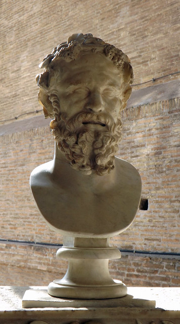 Bust of Silenus in the Capitoline Museum, July 2012