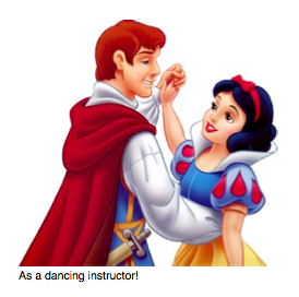Snow white goes to her job as a dance instructor