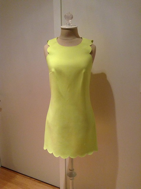 J.Crew scalloped dress, 00P in pale citrus
