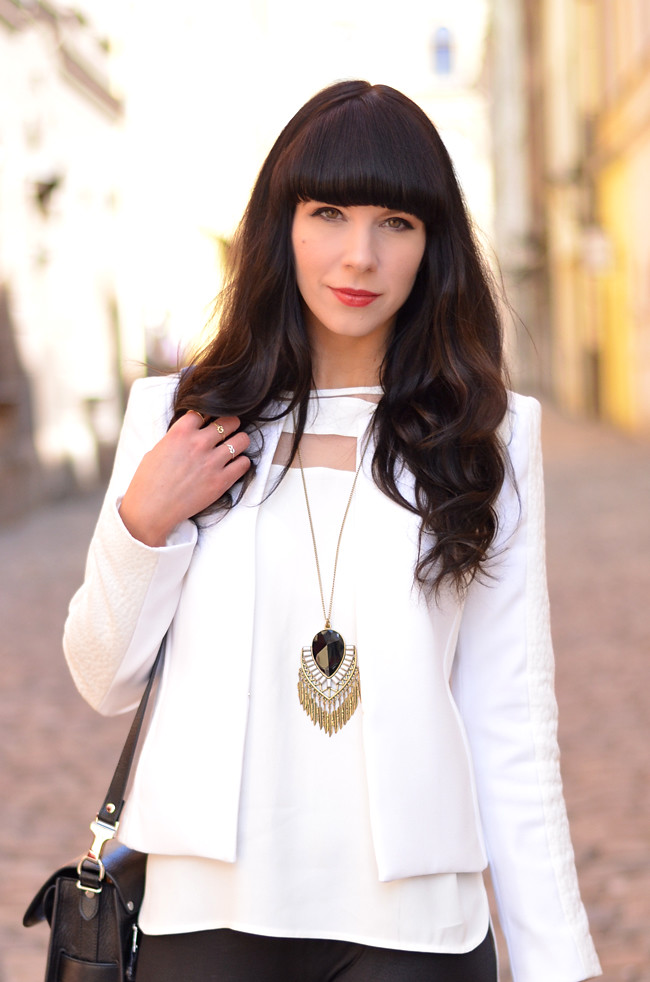 White Outfit Mango Kurt Geiger Zara in Prague 2